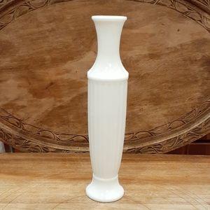 TALL WHITE MILK GLASS BUD VASE